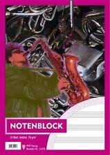 Notenblock DIN A4 12 System 10 Blatt