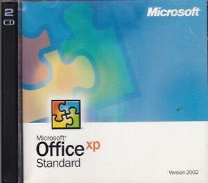 Microsoft Office XP Standard (Version 2002, 2-Disc Set, PC)
