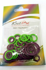 KnitPro Plastic Ring Stitch Markers Pack of 50 - 3 Sizes - Knitting Crochet