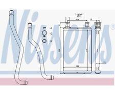 NISSENS Heat Exchanger, interior heating 70979