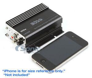 BOSS CE102 100 Watt 2 Channel Mini Car/Motorcycle/ATV Audio Power Amplifier Amp