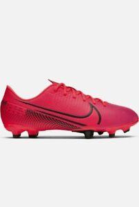 Boys Kids Nike Mercurial Vapor Academy FG MG Red Black Football Boots UK Size 5