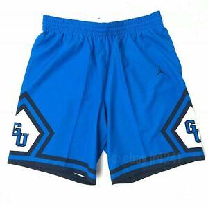Nike Georgetown Hoyas Jordan Flight Basketball Short Men's Large Blue 865840