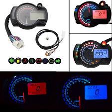 New 15000rpm LED Motorcycle Speedometer LCD Digital Tachometer Odometer Gauge
