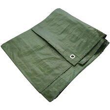 6 x 9 ft GREEN HEAVY DUTY WATERPROOF TARPAULIN TARP GROUND SHEET CAMPING COVER