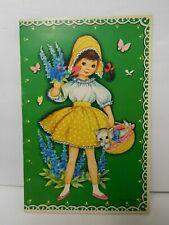 Vintage Carlsen Verlag Little Girl Paper Doll & Clothes Card 3040-1