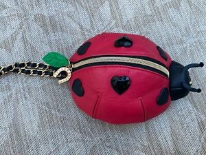 """BETSEY JOHNSON LADY BUG """"LUCK BE A LADY"""" CLUTCH BAG"""