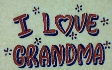 Original Vintage I Love Grandma Iron On Transfer