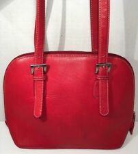 Tignanello Red Leather Dome Style Shoulder Bag