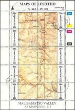 Lesotho 1996 Maps/Map-making/Geography/Cartography/History 3 x shts VFU (s461j)