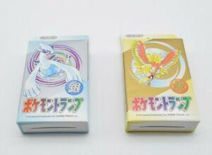 2 Decks Pokemon Playing Poker Cards (Gold & Silver) Ho-Oh Lugia Nintendo1999