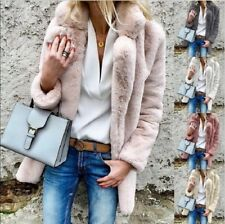 Womens Winter Fluffy Faux Fur Warm Thick Coat Cardigan Jacket Overcoat Outerwear
