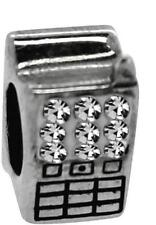 NEW Rhona Sutton 925 Sterling Silver sparkle mobile phone charm bead, technology