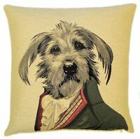 """NEW 18/"""" MR PICKWICK ARISTODOGS BELGIAN TAPESTRY CUSHION COVER WITH ZIP 362"""