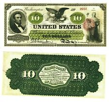 Reproduction 10 Dollars 1862 United States Legal Tender Note $10 ten USA p131a