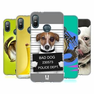 HEAD CASE DESIGNS FUNNY ANIMALS SOFT GEL CASE & WALLPAPER FOR HTC PHONES 1