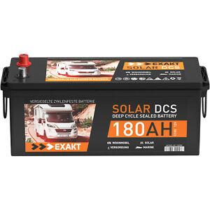 Solarbatterie 12V 180Ah EXAKT DCS Wohnmobil Versorgung Boot Batterie 200Ah 150Ah