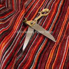 Nuevo Rojo Gris Negro Multicolor Lápiz Patrón de Rayas Chenille Tela de tapicería