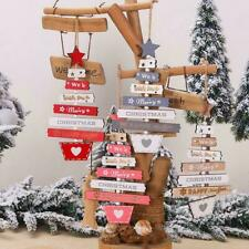 Decorations Pendant Home Wooden Door Christmas Hanging Xmas Tree-Party Ornament