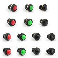 12/16mm Push Button Switch Latching/Momentary IP67 High Round LED For Car/Boat