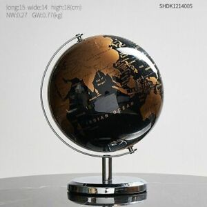 Retro Rotating Globe Home Decoration Accessories Modern Learning Globe Office