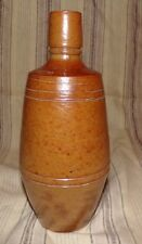 ANTIQUE SALT GLAZED PORTUGAL BROWN BOTTLE A AREOSA ca.LATE 1800's