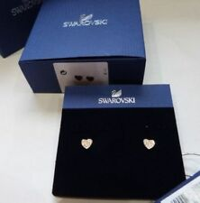 Swarovski Heart Yellow Gold Plated Costume Earrings