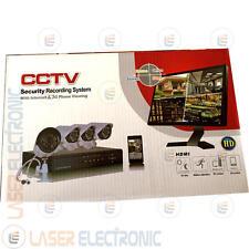 Kit Videosorveglianza Alta Risoluzione HD con DVR 4CH + 4 Telecamere AHD 1500TVL