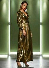 SHEIN Gorgeous Long Evening Dress Size S Gold