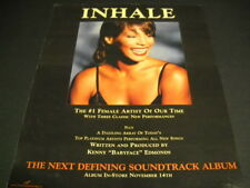 Whitney Houston Inhale.The #1 Female Artist Of Our Time 1995 Promo Display Ad