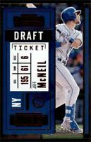 2020 Contenders Draft Ticket Red #100 Jeff McNeil /99 - New York Mets
