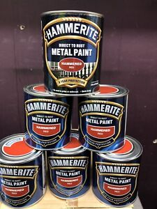 HAMMERITE Direct To Rust Metal Paint 750ml | Hammered Red