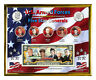 """U.S. Five Star Generals Colorized Coin & Currency Set in 8"""" x 10"""" Frame"""