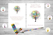 Personalised Childrens Kids Wedding Activity Pack Book Favour Love Tree AB120
