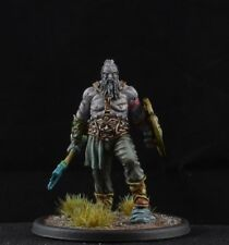 Painted Old Barbarian from Black Sun Miniatures, warrior D&D