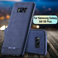 Samsung Galaxy S8 S9 Note 10 Slim Luxury Leather Ultra Thin TPU Case Hard Cover