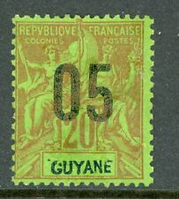 Guyane 1912 French Guiana 5¢/20¢ Scott #89 Mint H535