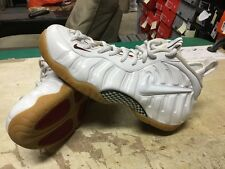 Nike Air Foamposite Pro White Red Green 624041-102 Gum Sz 12 Free Ship 1 One Max