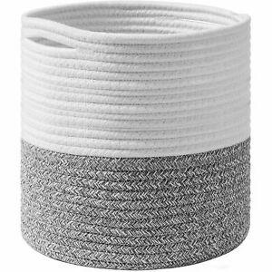 Cotton Rope Storage Basket Indoor Planter Basket Woven Cover Pot Plant Holder