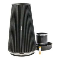 XL PRORAM Cone Air Filter Universal Intake -Trumpet & Silicone Coupling -70mm OD