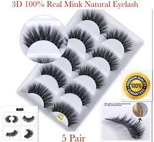 8e41c4f2c53e 💙NEW 5Pair 3D Mink False Eyelashes Wispy Cross Long Thick Soft Fake Eye  Lashes