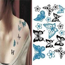 Sexy Women Hollow Out Butterfly Body Art Waterproof Temporary Tattoo Sticker DIY