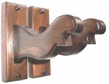 Walnut Wooden Bow Rack Hangers Compound or Recurve Archery Wall Display Hooks