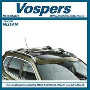 """Genuine Nissan X-Trail T32 2014 On """"New Shape"""" With Roof Rails. Roof Bars / Rack"""