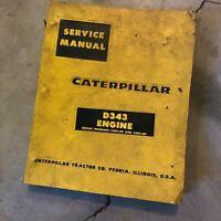 CATERPILLAR CAT D343 ENGINE SERVICE MANUAL S/N 33B 62B
