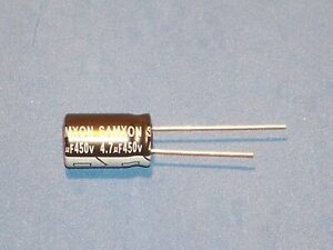 Elko, radial, 4,7µF (4,7uF) / 450V / 105°C / Ø10x16mm-Samxon - Menge nach Wunsch