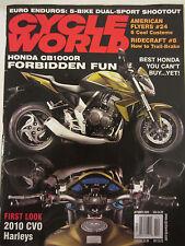 Cycle World Magazine October 2009 Honda CB1000R Best Honda CVO Harleys
