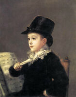 Oil Francisco de Goya -  Portrait of Mariano Goya, the Artist's Grandson boy