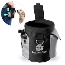 Dog Pet Hands Free Training Waist Bag Drawstring Carries Toys Treat Food Pouch