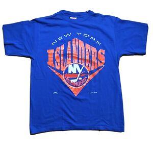 New York Islanders Vintage XL Nutmeg Mills T-Shirt 1994 Single Stitch Made USA